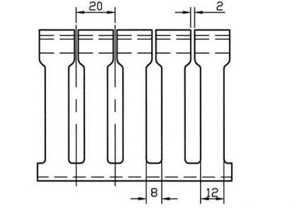 A 12 PIECE BOX OF 2 X 1 WHITELOW DENSITY-LARGE FINGERS