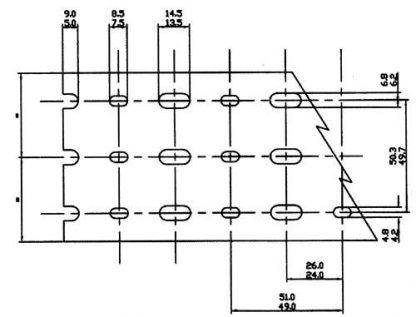 AN 8 PIECE BOX OF 3 X 3 GRAYHIGH DENSITY-NARROW FINGERS