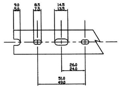 A 12 PIECE BOX OF 3/4 X 2 GRAYHIGH DENSITY-NARROW FINGERS